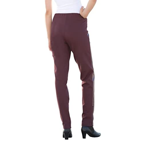 1cd067a7e8a free shipping Jessica London Women s Plus Size Ankle Zip Leather And Ponte  Jeggings