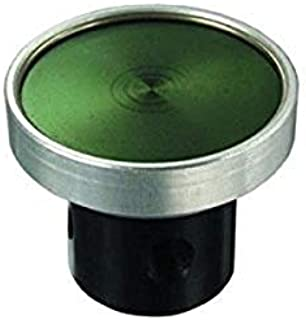product image for Clippard PB-2-BK 3-Way Low Force Actuation Push Button, Black (Green Shown)