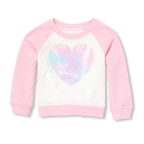 Kids Places Sweatshirt Girl - The Children's Place Baby Girls Long Sleeve Graphic Novelty Sweatshirt, Charisma, 5T