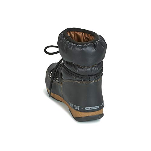Snow Boots Adults' Vinile Met Unisex Boot Black Bianco Moon Bronze w4gYqXn