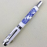 elegantstunning Luxury Fountain Pen 950 Blue and White Porcelain Dragon Medium Nib 18kgp for Office Student School Teacher Award Gift