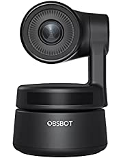 OBSBOT Tiny OWB-2004-CE AI -Powered PTZ Webcam Tracking Gesture Control 1080p/30fps Digital Zoom Mics with Noise Cancellation Intelligent Exposure Support for Live Streaming Online Meeting
