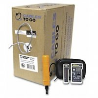 C2G/Cables to Go 29292 - CAT 5e PVC Network Installation Kit with 500ft Cable, tool and tester