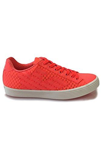 Emporio Armani EA7 scarpe sneakers donna nuove originale pride 3d mesh arancione