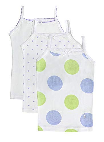 Feathers Girls Polkadot Print Tagless Cami Super Soft Undershirts (3/Pack) ()