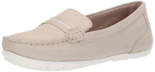 - CLARKS Women's Dameo Vine Driving Style Loafer Ivory Leather 70 M US