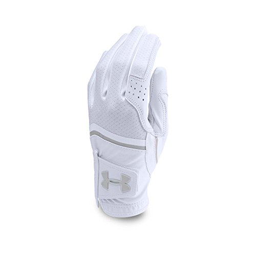 Under Armour Women's CoolSwitch Golf Glove,White (100)/Aluminum, Left Hand Medium