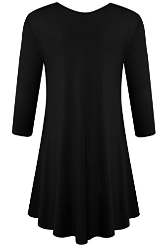 Large Product Image of JollieLovin Womens 3/4 Sleeve Loose Fit Swing Tunic Tops Basic T Shirt
