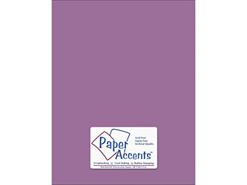 Accent Design ADP8511-25.18056 No.74 - Cartulina Lisa de Pizzazz Morada (8,5 x 11 cm), diseño de Acentos de Papel
