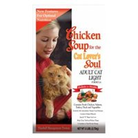 Chicken Soup for the Cat Lover's Soul Dry Cat Food for Adult Cat, Light Chicken Flavor, 6 Pound Bag, My Pet Supplies