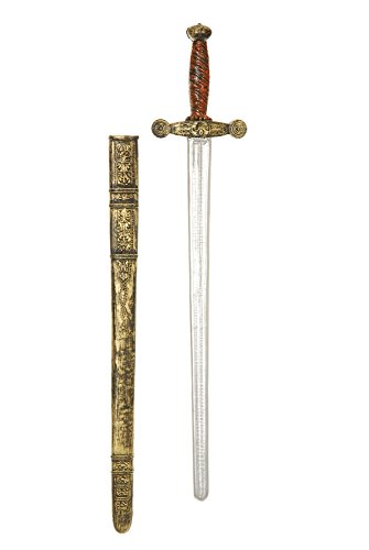 Charades Adult 29-Inch Knight Sword Costume Weapon, Gold