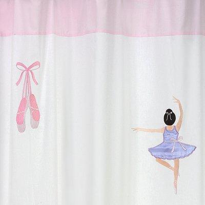 Sweet Jojo Designs Ballet Dancer Ballerina Kids Bathroom Fabric Bath Shower Curtain
