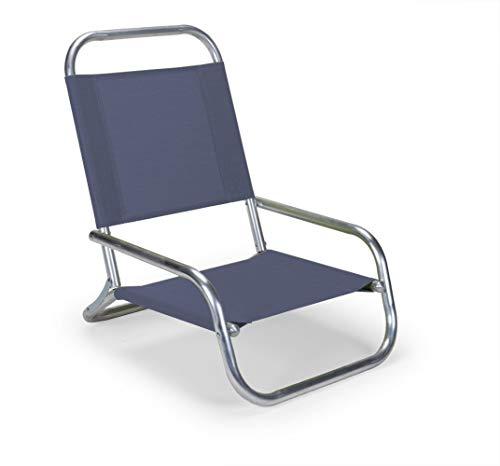 Telescope Casual Sun and Sand Folding Beach Chair, Navy (Renewed)
