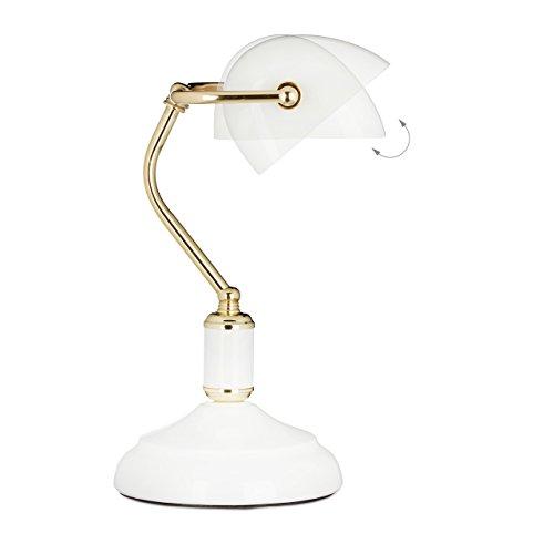 Relaxdays Lampe De Banquier Notaire Bibliotheque Lampe De Bureau