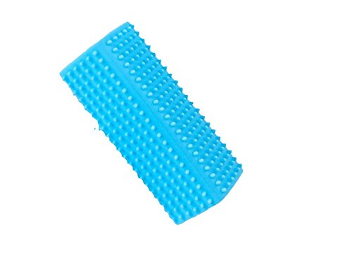 Zhahender Lovely Pet Combs Pet Hair Removal to Floating Hollow Silicone Column Comb Sticky Device(Blue)