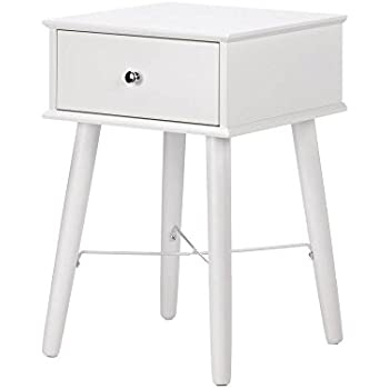 Amazon.com: White Lacquer Side Table, Mdf Wood Side Tables