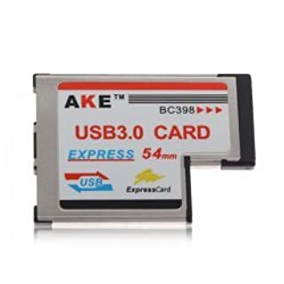 AKE ExpressCard Express 54mm to 2 Built-in USB3.0 Port 5Gbps BC398 for Laptop (B00AZZP9PG)   Amazon price tracker / tracking, Amazon price history charts, Amazon price watches, Amazon price drop alerts