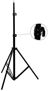 9 Feet Cushioned Premium Black Light Stand for Video Portrait Photography