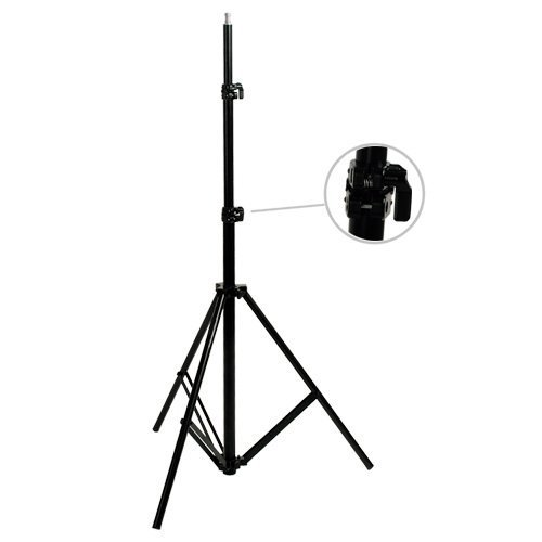 Cowboystudio 9 feet Heavy duty Cushioned Premium Black Light Stand for Video, Portrait, and Product Photography
