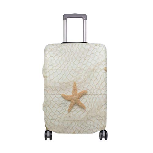 Suitcase Cover Seashells Starfish Sand Luggage Cover Travel Case Bag Protector for Kid Girls