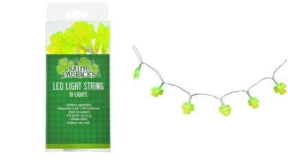 St. Patricks Day Decorations LED 3 Feet Light String Shamrock Shaped