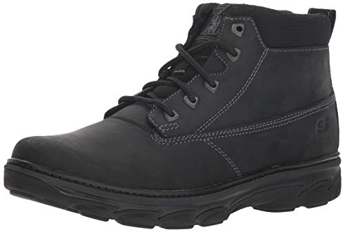Resment Outdoor Noir Alento Skechers Men's Outdoor Boots Leather BBK B6dqxwq