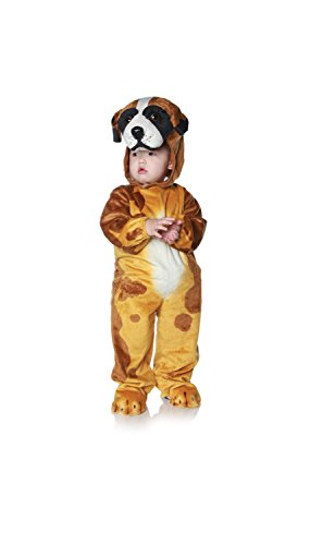 [Underwraps Costumes Baby's Dog, Brown/Tan/White/Black, Large] (Black And White Puppy Toddler Child Costumes)