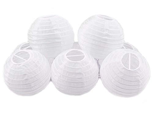 White Round Paper Lanterns, JRing 4