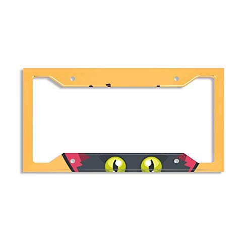 luckmx License Plate Frame, Home/Bathroom/Bar/Wall Decor Car Vehicle License Plate - Halloween Cat Background]()