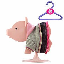 Teacup Knob - Teacup Piggies Fashion Set School Days Grey Sweatshirt, Pink Hoodie Denim Dress