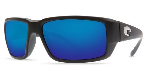 Costa Del Mar Fantail 580G Black/Blue Mirror Polarized Lens 60mm - Del Fantail Mar Costa