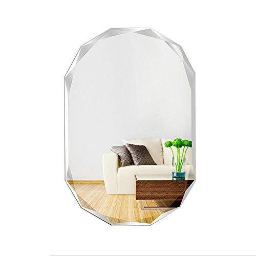 Bathroom Mirror Modern Design Minimalist Frameless Wall Mirror Vanity Mirror for Entrance/Bedroom/Living -
