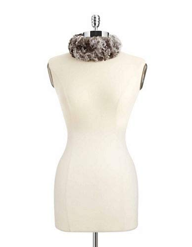 surell Women's Rabbit Fur Head Wrap, Chinchilla, One Size by surell