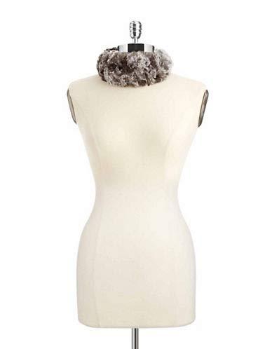 surell Women's Rabbit Fur Head Wrap, Chinchilla, One Size