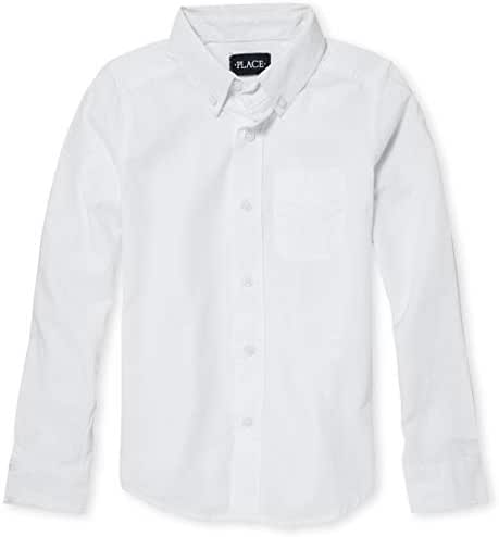 The Children's Place Boys' Long Sleeve Uniform Oxford Shirt