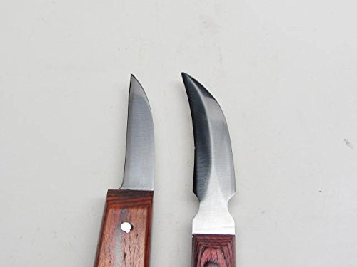 5pc Wood Carving Knife Whittling Caricature Chip Hook Bench Drawknife