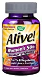 Nature's Way 15899 Alive Women's 50+ Gummy Multi-Vitamins Chewables, 75 Count
