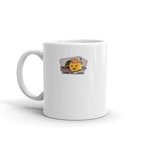 Halloween cat limited Ideal as a gift 11 Oz White Ceramic -