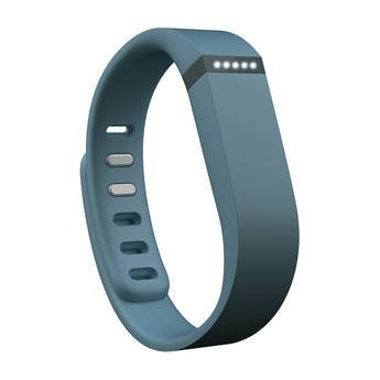 Teak - Silicone Sport Replacement Band for Fitbit Flex - Large, Slate