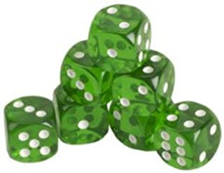 CHH 2500P-BLK Black Dice Recreational Game Equipment Accessory with White Pips