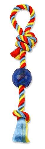 Flossy Chews Poly Dri Rope Pull Tug with 2-1/2-Inch Ball, Medium, 20-Inch