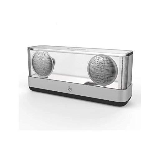 ShiMin 無線スマートなBluetoothのスピーカーの低音の小型スピーカーの携帯用コンピュータ照明 (Color : ブラック)   B07QCP9WYG