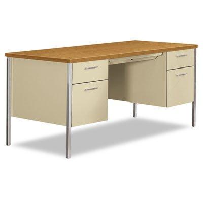 HON 34962CL 34000 Series Double Pedestal Desk 60w x 30d x 29 1/2h Harvest/Putty, ()
