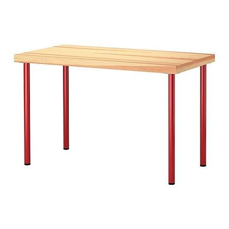 Tavolo Rosso Legno.Ikea Tornliden Adils Tavolo In Legno Di Pino Colore Rosso