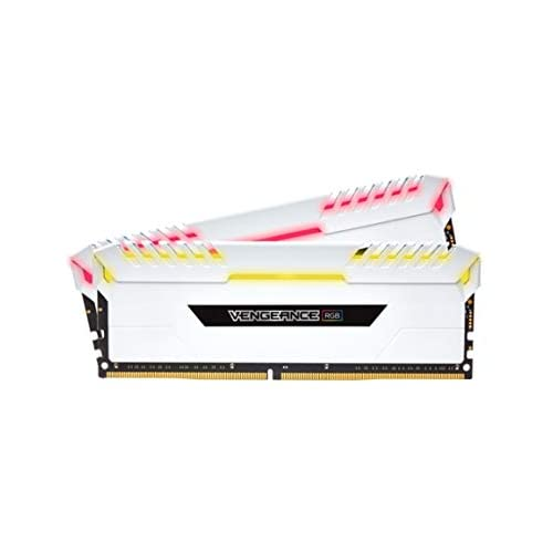 Corsair Vengeance RGB Kit de Mémorie Enthousiaste 16Go 2x8Go DDR4 3000MHz C16 XMP 2 0 Blanc