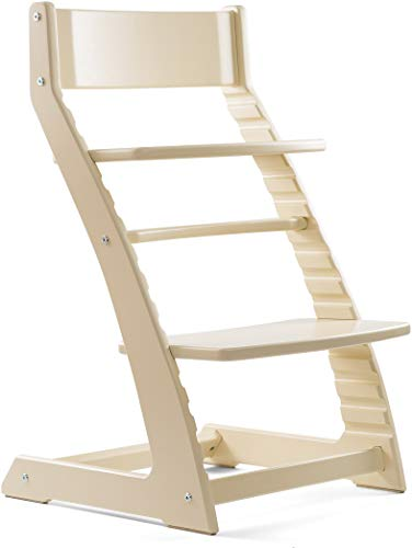 Heartwood Ivory Adjustable Wooden High Chair Baby Highchair Solution for Babies and Toddlers Dining Highchair from 24 - Solution High
