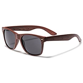 Rose Wood Print Frame Sunglasses 98 XtremeUV sunglasses are created to stand out and compete with designer items in $20-$50 price range. UV400 standard - 100% UV Protection Drawstring Pouch included