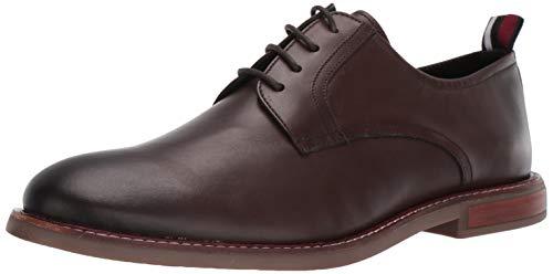 (Ben Sherman Men's Birk Plain Toe Oxford, Dark Brown Leather, 9 M US)