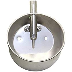 rabbitnipples.com X-Large Stainless Steel Waterer for Pigs, Goats, Sheep, Other Farm Animals
