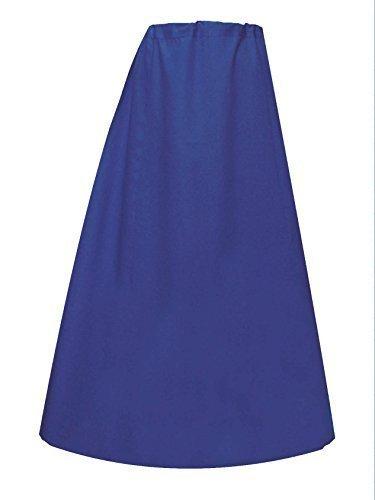 Mujer Indian Sari Algodón preconfeccionado Enaguas o costuras enaguas en talla única 022 Azul